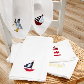 5-pack Nautical Muslin Square