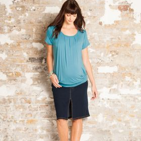 Maternity & Nursing Pleated Top