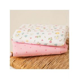 2-Pack Extra Large Floral Muslins