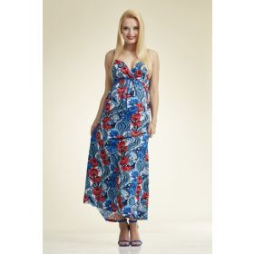 Karol Red Flower Maxi Dress