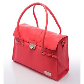 Elegant Leather Peach Nova Harley Bag