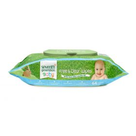 Seven Generation Free and Clear Baby Wipes Widget 64 pcs